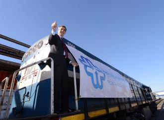 Arribó al Mercado Central el primer tren de cargas
